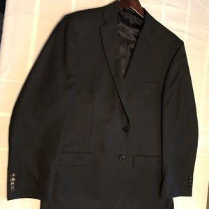 Chaps suit coat, dark gray pinstripe.